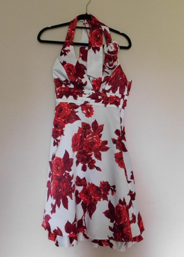 Debenhams sukienka kwiaty czerwona 36...