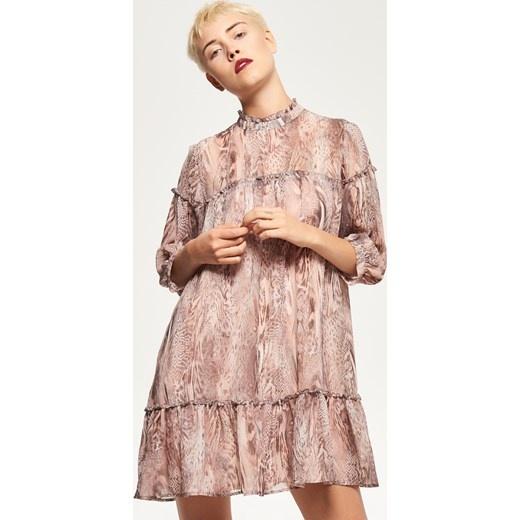 Reserved Wzorzysta sukienka kolor Wielobarwny beżowy Reserved...