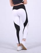 Sportowe legginsy serce siłownia fitness