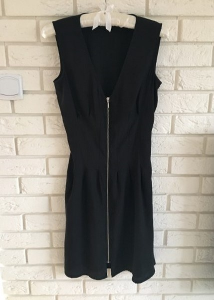 Ubrania Hm czarna sukienka na zamek