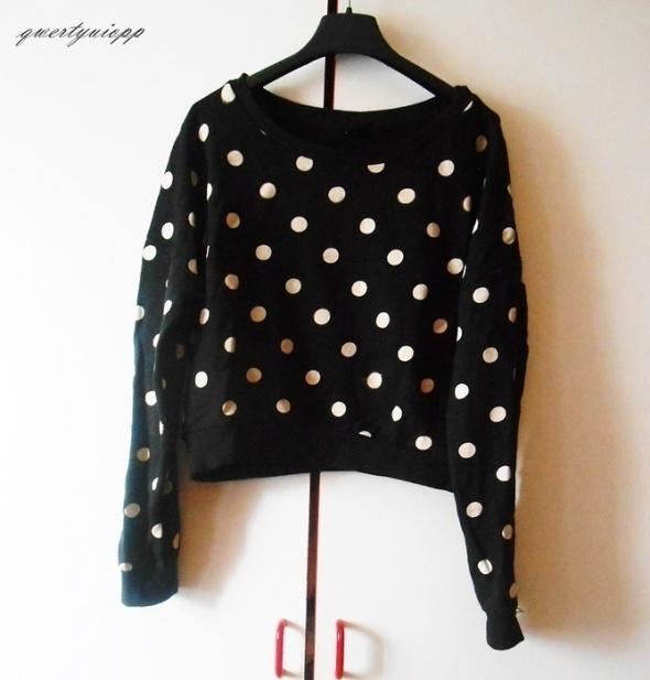 krótka bluza w kropki Gina Tricot xs