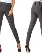 legginsy z wyszczuplającym pasem i wstawkami z eko skóry minus1...