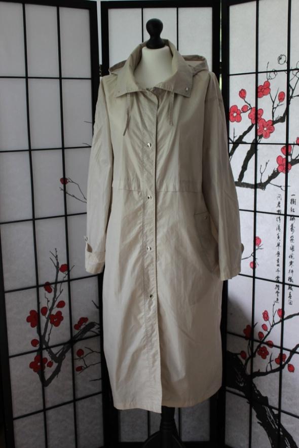 płaszcz przeciwdeszczowy kurtka trencz beżowy beż