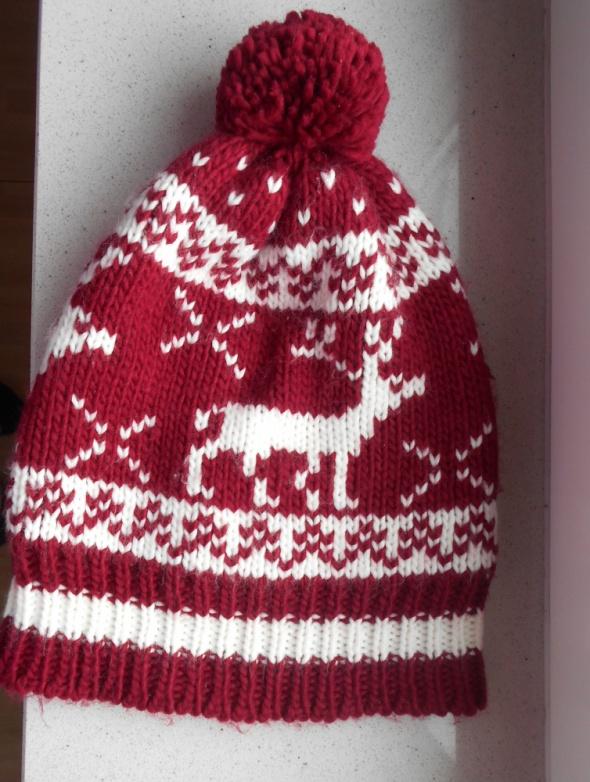 asos czapka zimowa z pomponem norweska wzory...