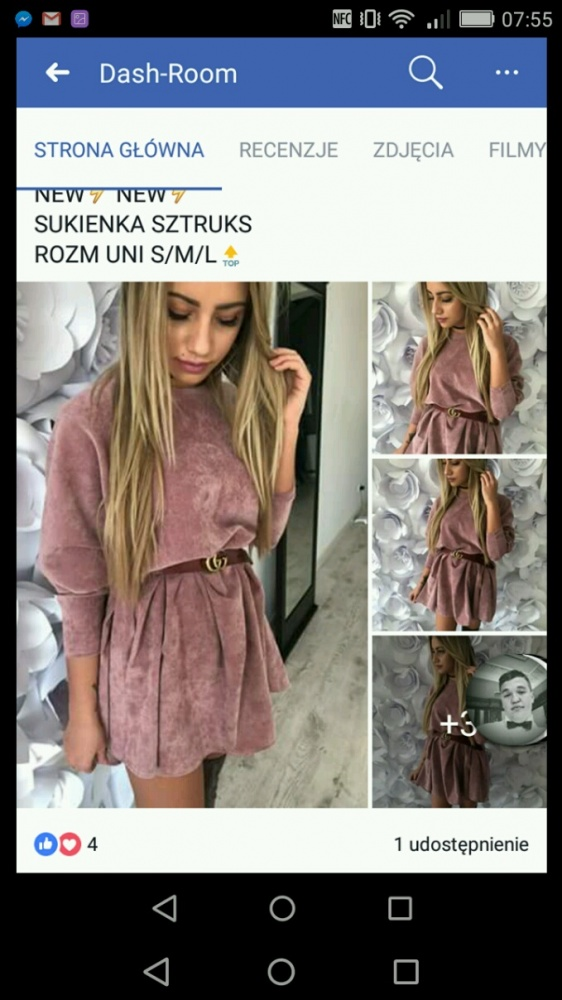 sukienka sztruksowa...