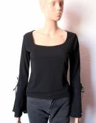 Czarna bluzeczka na długi rękaw dopasowana r L