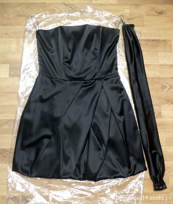 Nowa czarna sukienka bombka idealna na wesele