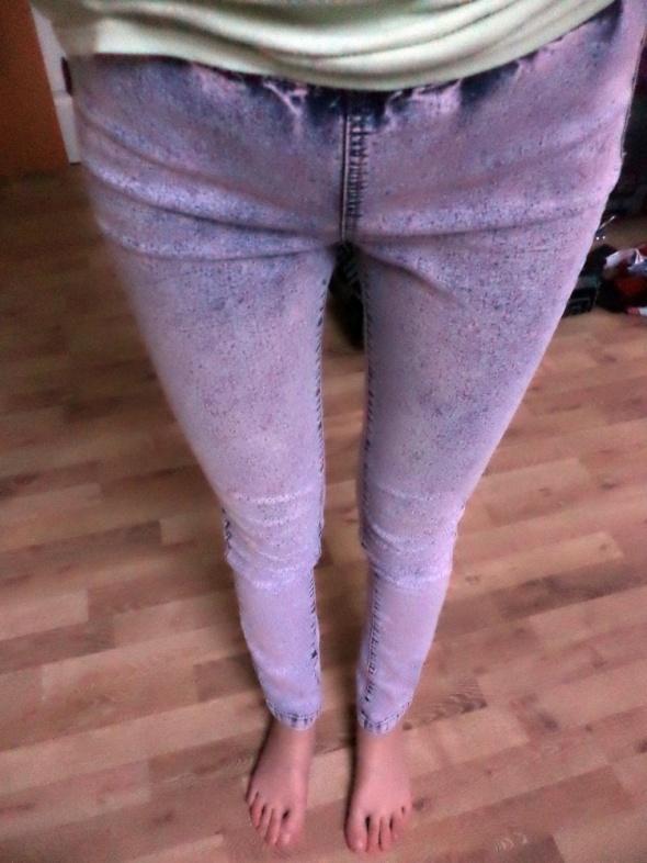 Jegginsy spodnie na gumce
