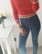 Denim Co spodnie dżinsy rurki wysoki stan dopasowane elastyczne L