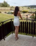 Biała sukienki mini