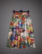 piękna kolorowa spódnica XS