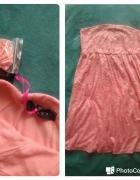 Sukienka koronkowa koralowa nowa 38...