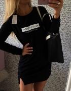 Czarna new dresowa sukienka HIT