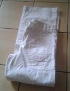 Biale Spodnie Dziewczece...