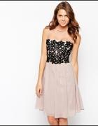Little Mistress Asos sliczna rozkloszowana sukienk...