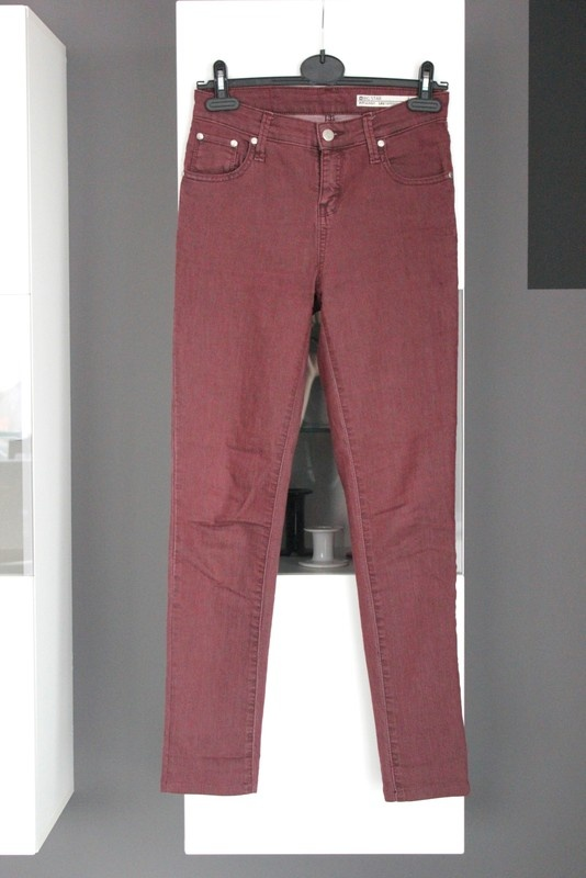 jeansy rurki dżinsy big star burgundowe burgund bordo bordowe w...