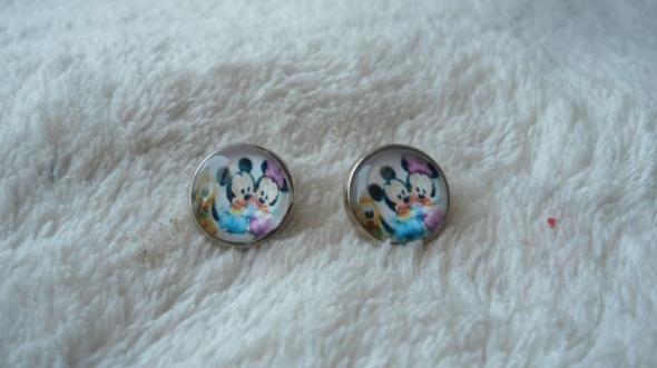 Kolczyki Myszka Mini i Mikey wybór zapięcia