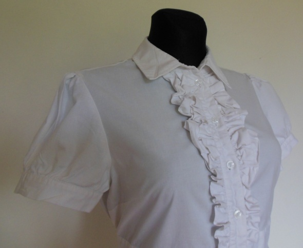 ASOS biała bluzka tunika żabot 44
