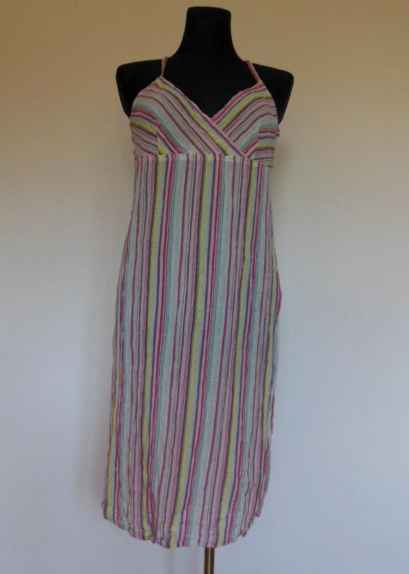 BYound sukienka letnia w paski na szelkach 40...