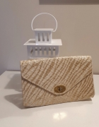 H&M słomiana torebka kopertówka styl zara...
