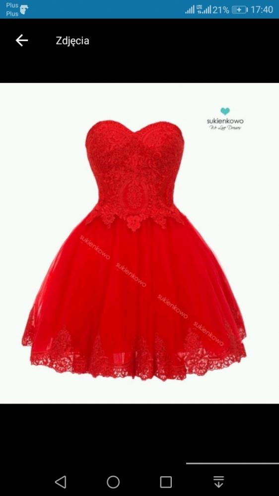 Czerwona carachel sukienka w Suknie i sukienki Szafa.pl