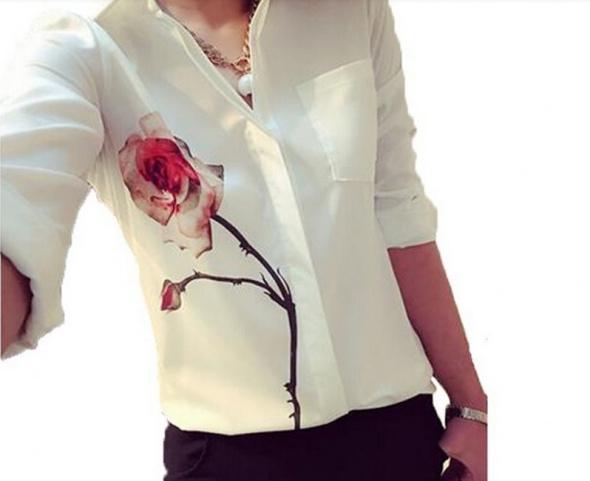 Bluzka szyfonowa floral jak NOWA S M