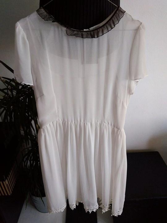 biała sukienka midi asos 42...