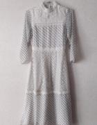 Sukienka Asos 34 groszki boho retro koronka kropki