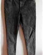 Jeansy rurki wyszczuplające wysoki stan marmurki 42...