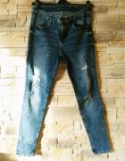 Cropp jeansy z dziurami r 38 jak nowe...