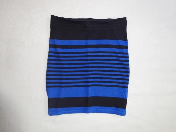 BERSHKA dopasowana ołówkowa dresowa spódniczka w paski 36 S...