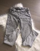 PULL & BEAR tregginsy marmurki szare spodnie 36 S...