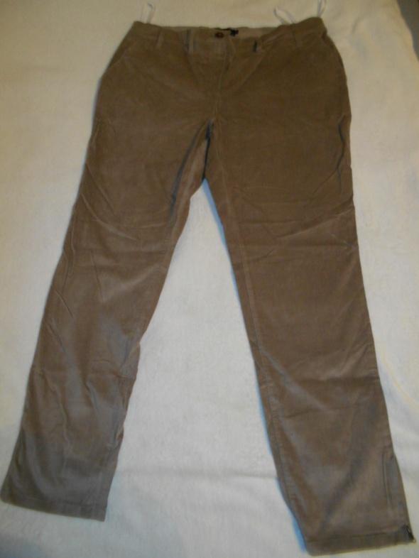 Spodnie nowe cieniutki aksamit zamsz rozm 48...