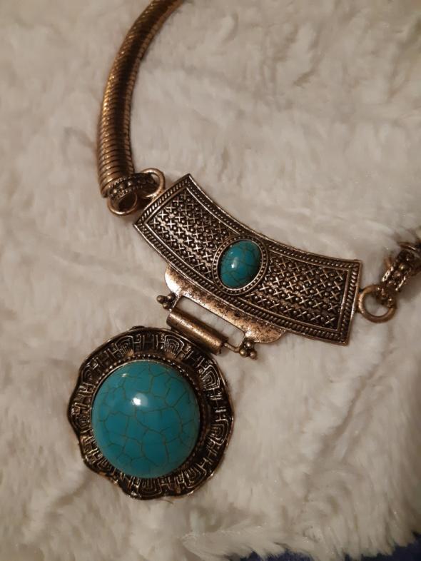 Orientalny naszyjnik stare złoto