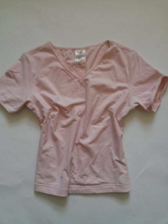różowa bluzka adidas dri fit siłownia fitnessróżow...