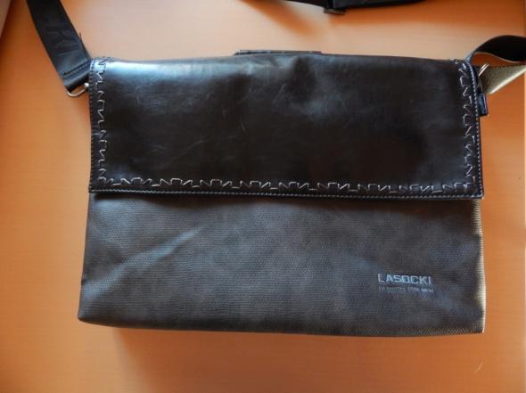 teczka torba lasocki skóra