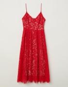 Sukienka H&M koronkowa czerwona...