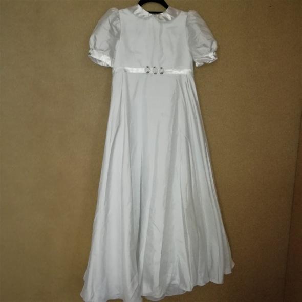 094af74505 Sukienki i spódniczki Sukienka komunijna alba trapezowa krótki rękaw 134  140 cm