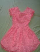 Różowa rozkloszowana sukienka favori 36...