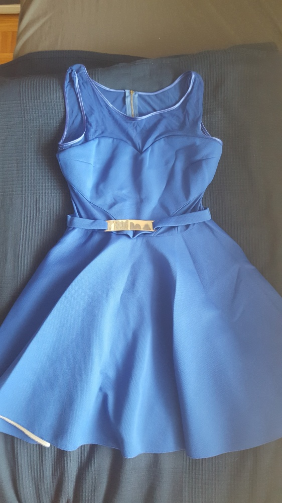 sukienka chabrowa rozkloszowana 40