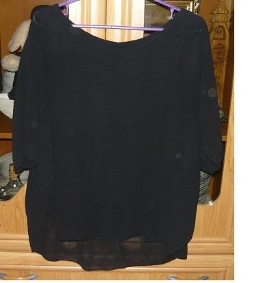 Czarne bluzka kimono rozmiar S
