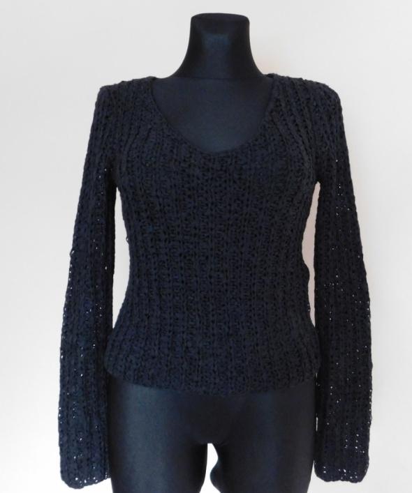 Anne Klein czarny sweterek bluzka 36 38...