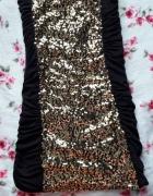 Czarna sukienka złote cekiny