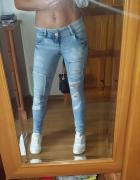 jeansy 36 rurki spodnie