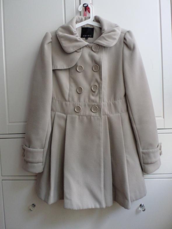 beżowy płaszcz dwurzędowy new yorker AMISU M 38...