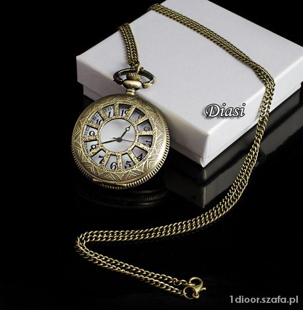 Zegarek na łańcuszku naszyjnik VINTAGE prezent...