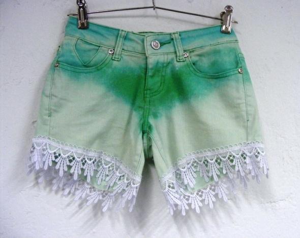 Spodenki Szorty ombre lace tumblr boho hippie style summer