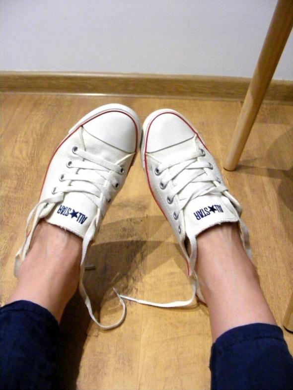 Converse trampki krótkie slim białe 38