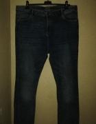 Elastyczne jeansy rurki skinny wysoki stan 50...