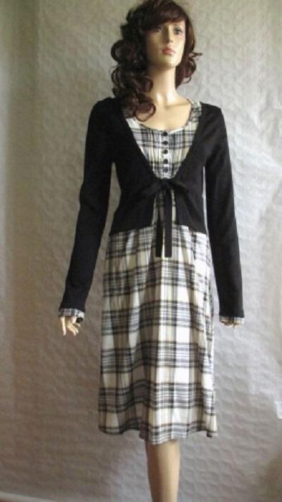 9d7502f30c KAPPAHL sukienka 2 w 1 kratka sweter czerń 36 38 w Suknie i sukienki ...